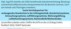 cci Zeitung Stellenmarkt Chiffre Nummer 2479