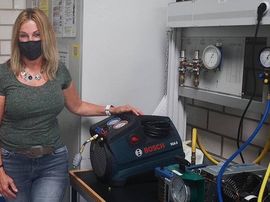 Absaugegerät zur Erfassung von Propan aus einem Kältemittelkreislauf