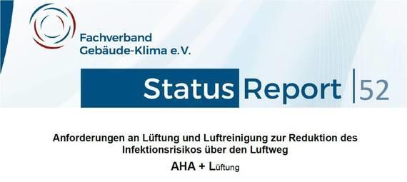 Der neue FGK-Statusreport enthält ein Verfahren zur Auslegung von Lüftungsanlagen zur Verringerung des Infektionsrisikos. (Abb. © FGK)