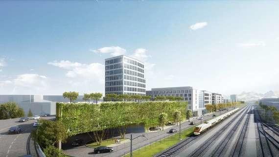 Das neue Bahnhofsquartier Rosenheim nach Fertigstellung