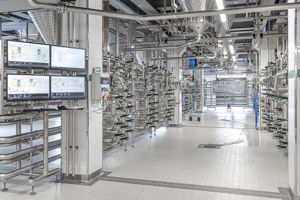 Produktionsbereich Brauerei Wieninger