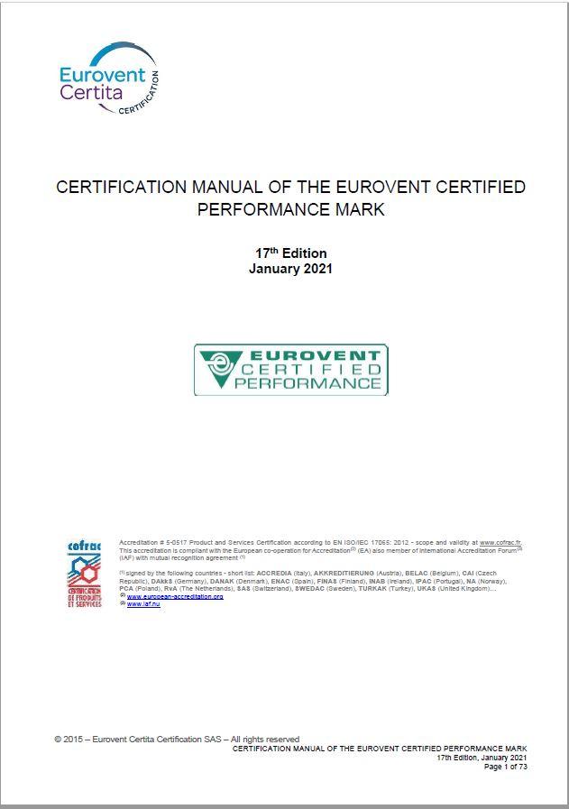 Handbuch für Eurovent-Zertifizierung