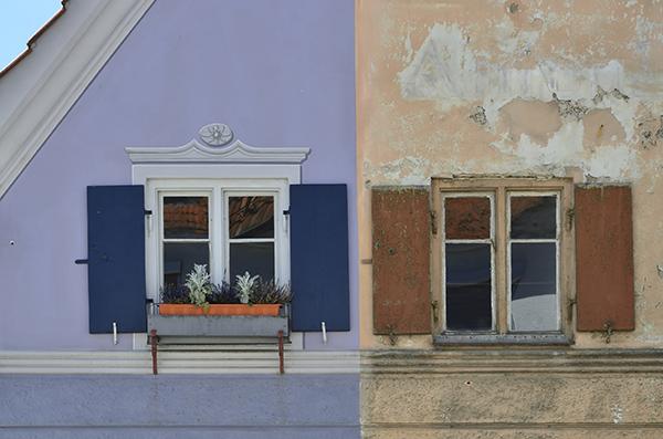 Vergleich einer Altbau-Sanierung: vorher und nachher (Abb. © traveldia/stock.adobe.com)