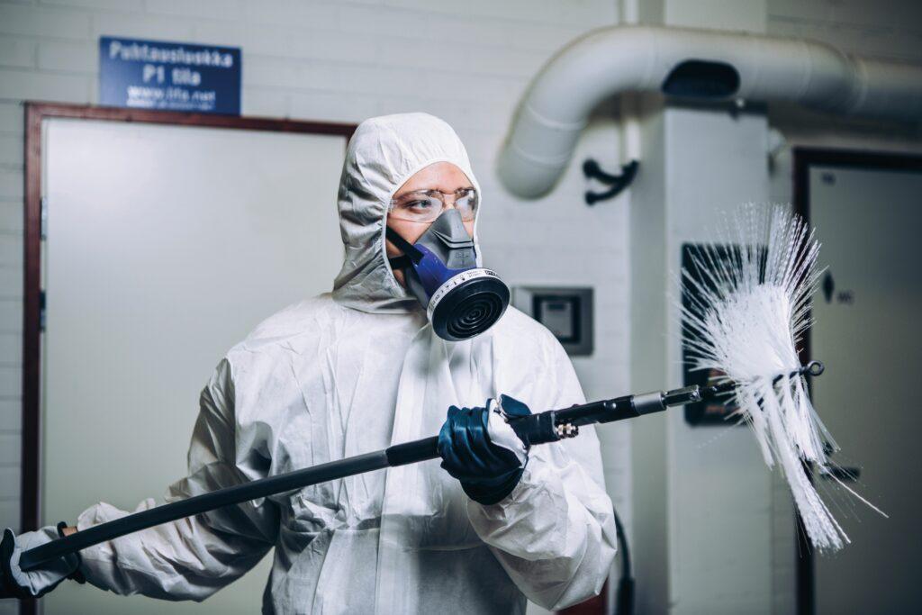 Reinigung von Luftleitungen