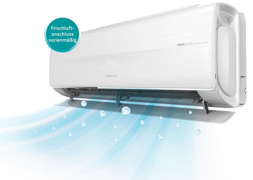 Wandklimagerät von Hisense mit einem Leistungsbereich von 2,6 bis 3,5 kW Kühlleistung (Abb. © CP Kaut GmbH & Co.)