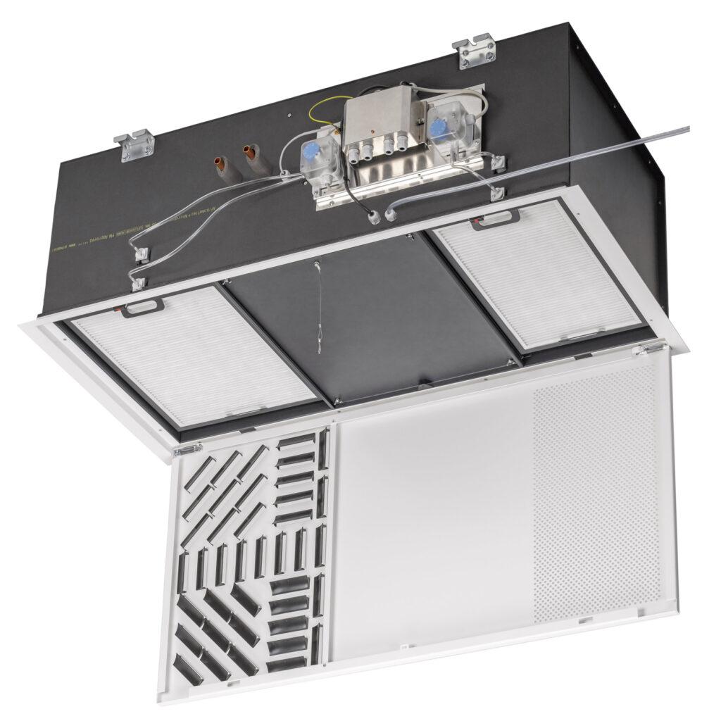 """Der neue Fan Coil """"KaCool D HC"""" zum Heizen und Kühlen wurde speziell für den Einsatz in Räumen des Gesundheitswesens entwickelt. (Abb. © Kampmann GmbH & Co. KG)"""